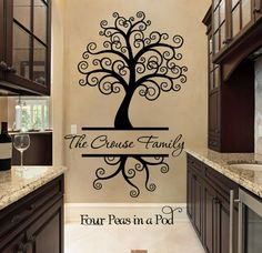 Wall Decal for the Home   Family Tree Decal by FourPeasinaPodVinyl, $55.00 https://www.etsy.com/shop/FourPeasinaPodVinyl?ref=l2-shopheader-name