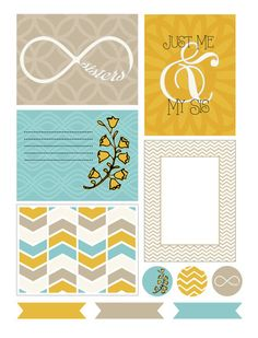 Free Journal Cards and Labels for Project Life