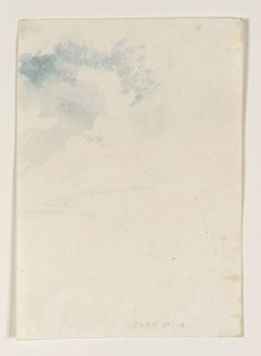 Joseph Mallord William Turner (1775‑1851) Part of Sky, Etc. Date date not known Watercolour on paper
