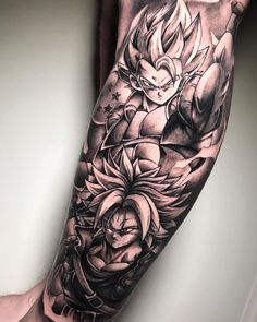 """DURAN TATTOO na Instagramie: """"Thanks Kevin. Art Trunks design from @daffduff_art. Follow and look at your profile, your art is amazing! Para citas…"""" S Tattoo, Sleeve Tattoos, Cool Chest Tattoos, Dbz, Silhouette Tattoos, Anime Tattoos, Forearm Tattoo Men, Tattoo Sketches, Dragon Ball Z"""