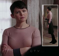 Mary's blush pink and purple dress on Once Upon a Time.  Outfit details: http://wornontv.net/9905/