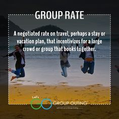 Did you know the #travelterm Group Rate??? #GoGroupOuting #GroupOuting