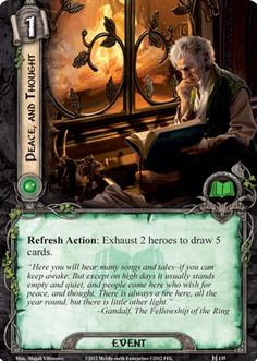 Bilbo Baggins (Peace, and Thought card lotr lcg)