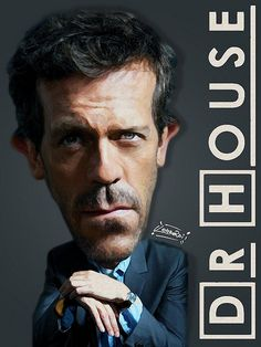 Dr. House Caricatura Effetto Dipinto Digitale©