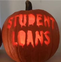 These spooky pumpkins are not just scary faces. they illustrate truly frightening things, like student loans and decaf coffee! Pumpkin Recipes, Fall Recipes, Pumpkin Ideas, Pumpkin Contest, Pumpkin Designs, Funny Pumpkin Carvings, Pumkin Carving, Disney Pumpkin Carving, Holidays Halloween