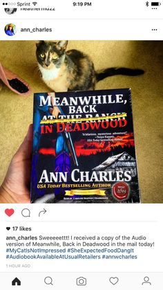 I see my book endorsement on the front!! Yay!!!