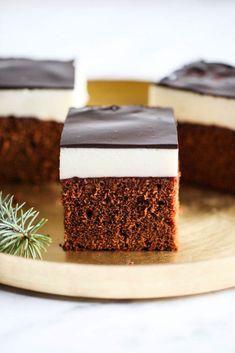 Kostka piernikowa z ptasim mleczkiem i polewą czekoladową My Recipes, Cake Recipes, Dessert Recipes, Polish Cake Recipe, Frosting Recipes, Sweet Cakes, Food Inspiration, Delicious Desserts, Good Food