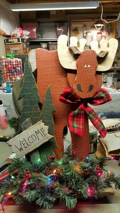 upcycled moose wood craft