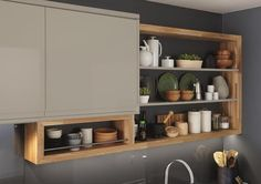 Bespoke shelving with Solid Rustic Oak Block 40mm worktop