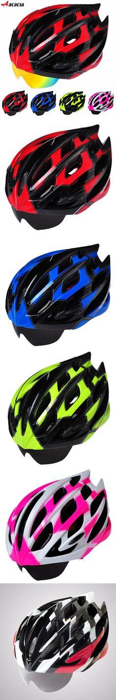 2016 High-Grade Bicycle Helmet+Eyewear Ultralight Road Cycling Safety Helmet Mountain Bike Helmet Glasses With 3 Lenses 5 Colors