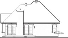 Discover the plan 3222 - Foxwood from the Drummond House Plans house collection. 2 bedroom bungalow house plan with garage and great fireplace in family room, breakfast nook. Garage House Plans, Bungalow House Plans, Vestibule, Drummond House Plans, Floor Layout, Storey Homes, Cozy Fireplace, Craftsman Bungalows, House Elevation