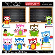 clipart digital clip art owls student teacher - Rootin Tootin Hootin School Days Too - Digital Clip Art by peachpopsclipart on Etsy https://www.etsy.com/listing/107073011/clipart-digital-clip-art-owls-student