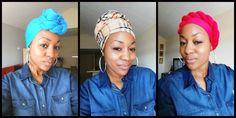 How to tie a Head Wrap - 5 Ways