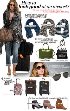 rosie huntington whiteley's airport style