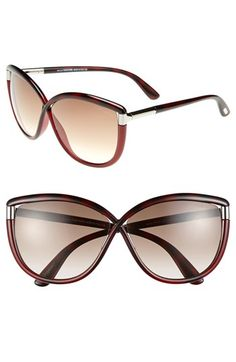 Tom Ford 'Abbey' 63mm Oversized Sunglasses | Nordstrom