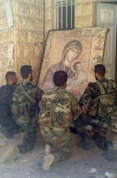 'They Accept Us as We Are;' Christians Join Forces With Muslim Group Hezbollah to Fight ISIS ~ Iraq Solidarity News (Al-Thawra) Catholic Art, Catholic Saints, Roman Catholic, Religious Art, Syrian Christians, Religion, Orthodox Christianity, Jesus Pictures, We Are The World