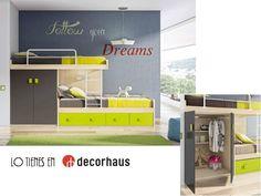 Dormitorio juvenil literas / Bunk beds http://www.decorhaus.es/es/ #mueble #Málaga