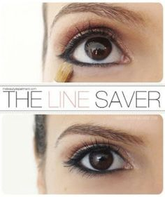 Translucent powder under eyes to keep eyeliner from running