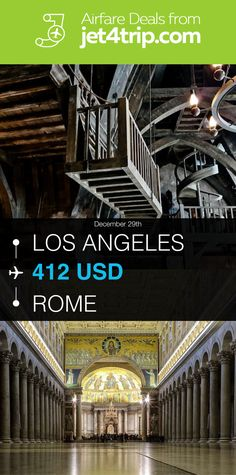 Flight from Los Angeles to Rome for $412 by American Airlines #travel #ticket #deals #flight #LAX #ROM #Los Angeles #Rome #AA #American Airlines