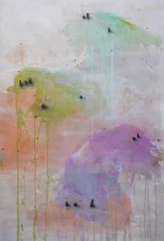 """Saatchi Art Artist: Claire Forgeot; Mixed Media Painting """"lost landscapes / Drawing n°5"""""""