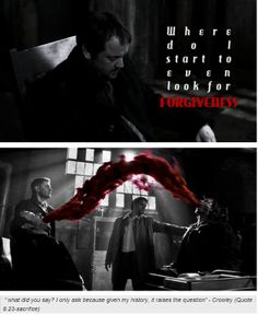 """9x10/8x23 -- I think Crowley was changed after """"Sacrifice"""". He's not good completely, but I believe he is better because of it, anyhow. :)"""