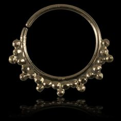 gold septum for pierced noses