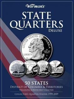 Warman's State Quarters Deluxe: 50 States District of Columbia & Territories Philadelphia & Denver Mint Collect...