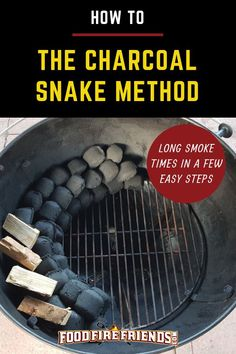The Charcoal Snake Method: Smoking on a Grill – In a Few Easy Steps Struggle to get a long smoke time in your kettle grill before having to top up charcoal? Or do your temperatures run too hot? You need the charcoal snake method! Grilling Tips, Grilling Recipes, Weber Grill Recipes, Bbq Tips, Meat Recipes, Kettle Bbq, Weber Kettle, Smoke Grill, Smoker Cooking