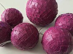 HomeDecor / vianočné gule - tmavo-fialové