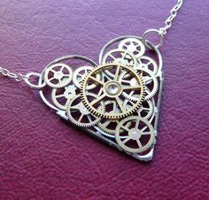 i absolutely love anything with hearts and I have an eye for some of the Steampunk jewelry items