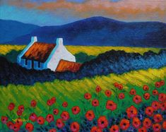 Poppy Meadow Painting by John Nolan - Poppy Meadow Fine Art Prints and Posters for Sale