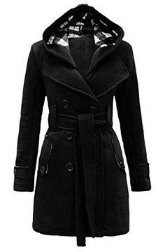 Noroze Womens Check Hood Coat - http://darrenblogs.com/2016/03/noroze-womens-check-hood-coat/