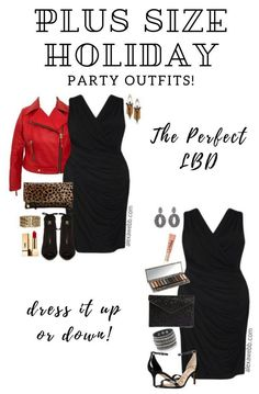 Plus Size LBD Outfits - Plus Size Little Black Dress - Plus Size Holiday Dress #plussize #alexawebb #dress #holiday