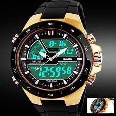 relogio masculino Skmei Men Sports Watches Waterproof Fashion Casual Quartz-Watch Digital S Shock Military Sports Men's Watches