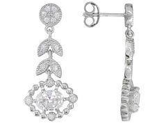 Charles Winston For Bella Luce (R) 2.96ctw Rhodium Plated Silver Earri