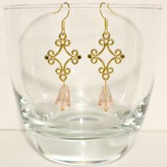 Items similar to more colours available - Crystal Chandelier Earrings on Etsy Pearl Chandelier, Chandelier Earrings, Touch Of Gold, Color Pop, Gold Necklace, Colours, Pearls, Trending Outfits, Crystals