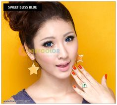 Sweet Bliss Blue Color Contact Lens - Circle Contact Lens