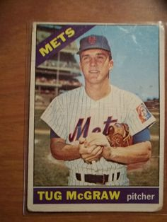 1966 Topps Tug McGraw  #124 #NewYorkMets