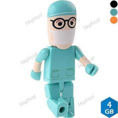 4GB Plastic Robot-shaped USB 2.0 Samsung Chip Flash Memory Drive U Disk CUD-99514