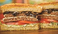 Roasted Garlic Portabella Double Charburger from The Habit Burger Grill