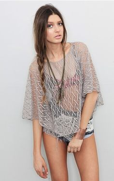 crochet poncho, cute coverup in summer