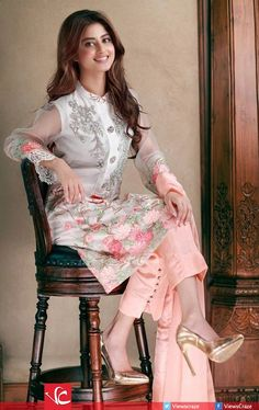 Agha Noor Formal Wear Collection 2016 Ft. Sajal Aly