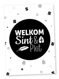 Kaart 'Welkom Sint & Piet' #suededesign