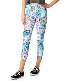 Bree High-Waisted Floral Crop Jegging from Aeropostale