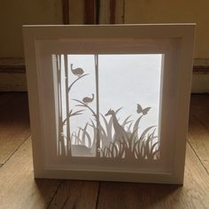 Shadow box made with my Cameo