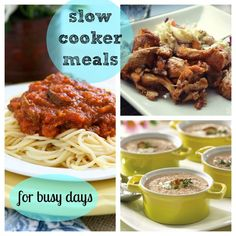 Slow Cooker Meals for Busy Days