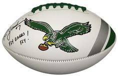 Ron Jaworski Signed Philadelphia Eagles Throwback Logo Football Fly Eagles JSA