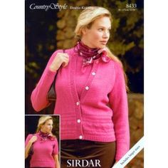 Twin Set Top & Cardigan in Sirdar Country Style DK (8433) £2.99