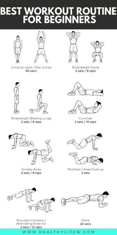 Workout Exercise 4 Weeks Workout Routines for Beginners - Are you looking for the best workout routine as a beginner? These 4 Weeks Workout Routines is what you need to start your workout journey. Best Workout Routine, Workout Routines For Beginners, Workouts For Teens, Home Exercise Routines, Fun Workouts, At Home Workouts, Exercise For Beginners At Home, Easy Daily Workouts, Beginner Fitness Plan
