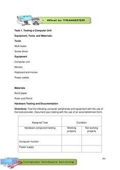 PDF Print | K-12 Module in TLE - ICT Grade 9 [All Gradings] Bond Paper, Power Cable, The Unit, Teaching, Education, School, Pdf, Onderwijs, Learning